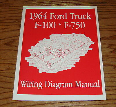 1964 Ford Truck F100 - F750 Wiring Diagram Manual Brochure ...