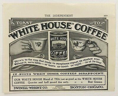 Collectibles Original 1900s Paper Print Magazine Ad White House Coffee Dwinell Wright Co Modern And Elegant In Fashion