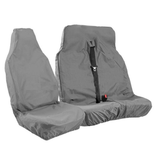 FITS RENAULT MASTER AND TRAFFIC HEAVY DUTY SEAT COVERS GREY VAN SEAT COVERS