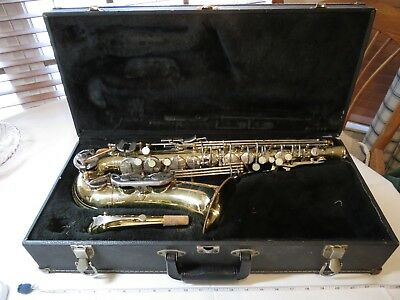 Armstrong saxophone SAX with case SCRATCHES RUST Elkhart IND USA made vintage ~