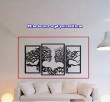 Face Wall Map Panel Art Laser Plotter Cut Cnc Vector Dxf Cdr Ai Jpg Pdf Svg