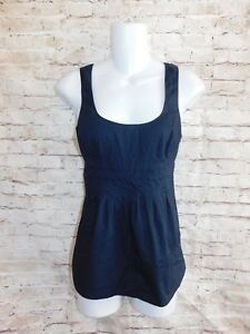 6c17195697fb05 Martin   Osa Womens Blouse Size 2 Solid Navy Blue Tank Top Cotton ...