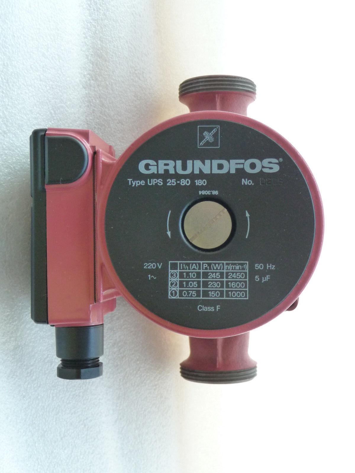 Grundfos UPS 25 - 80 Heizungspumpe 230 Volt Umwälzpumpe Umwälzpumpe Umwälzpumpe 180 mm NEU & OVP P43/18 01d611