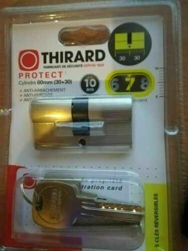 THIRARD PROTECT 7 cylindre 60mm 30+30 6CLE REVERSIBLES