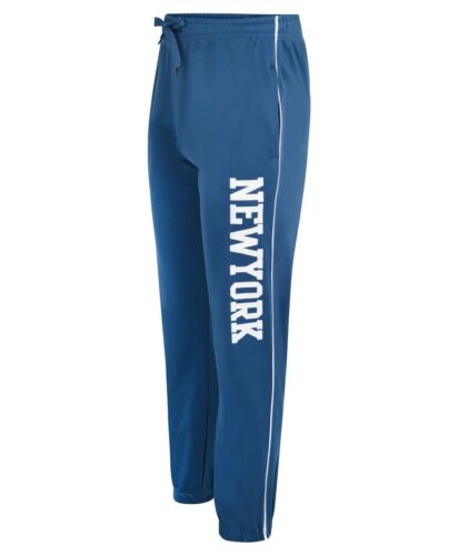 Boys Girls New York Tracksuit Bottoms Kids Teenagers Jogging Sweatpants 3-14 Y