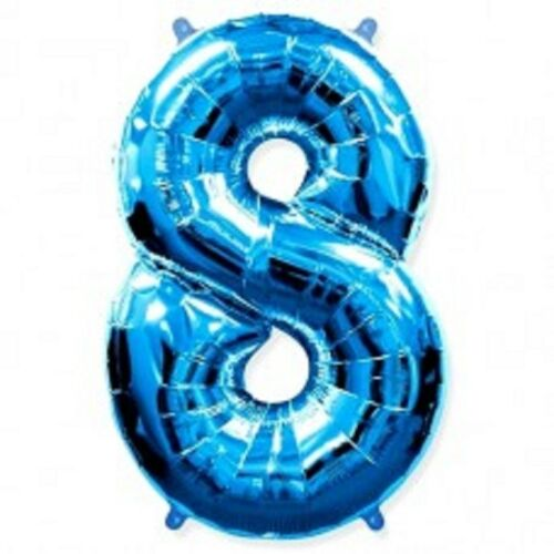"""Blue 30/"""" Foil Number Balloons Happy Birthday Wedding Party+Free Balloon"""