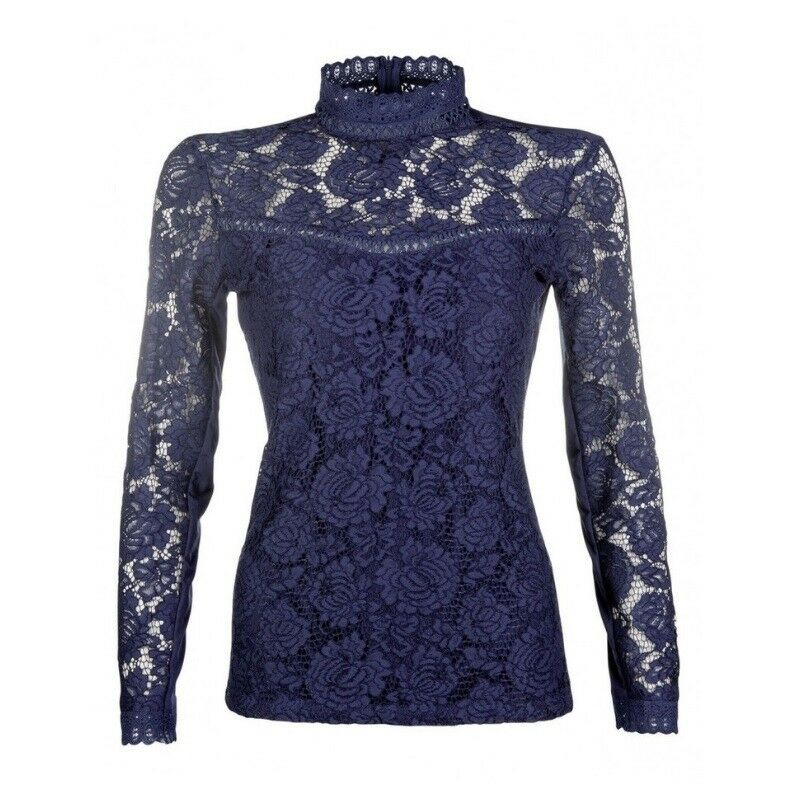 HKM Lauria Garrelli Lace Shirt in Deep bluee   Competition   Ladies   Horse