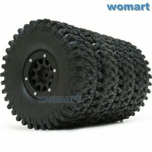 4stk-RC-1-9-rock-Crawler-tires-neumaticos-120mm-amp-1-9-034-beadlock-rims-Wheels-llantas