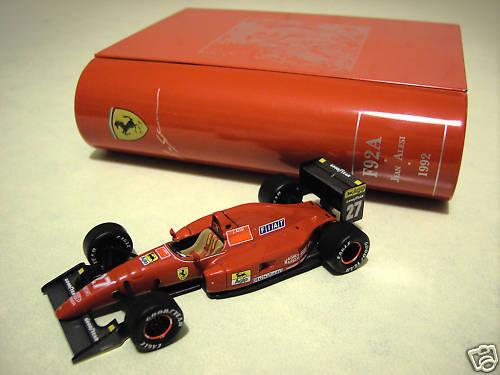 F1  1992 ferrari f92a alesi french gp 1 43 ixo sf18 92 voiture miniature book  commander en ligne