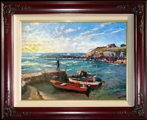 Thomas-Kinkade-199-250-Caesarea-18x24-E-P-Limited-Edition-Jesus-Israel-Canvas