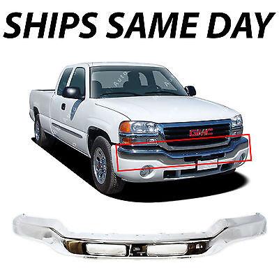 For 2003-2007 Sierra 1500 2500 2500Hd 3500Hd Front Steel Bumper Chrome Face Bar