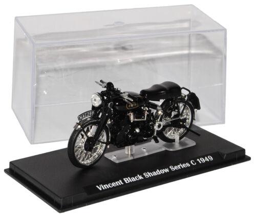 Serie de sombra negra de Vincent C 1949 negro motocicleta del modelo 1//24 Modellcarsonline...