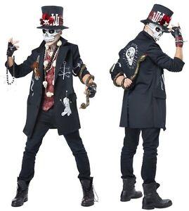 Men's Voodoo Priest Costume Papa Midnite Legba Loa Constantine Baron