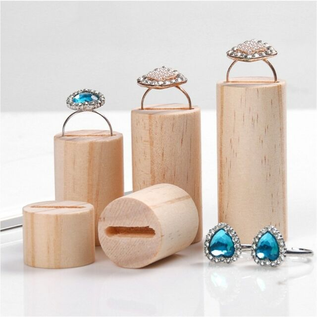 Frequently Bought Together 5 Pcs Wooden Ring Earring Jewelry Display Rack