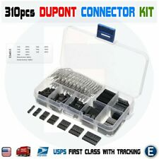 310pcs Set Dupont Wire Jumper Pin Header Connector Housing Kit Male Female Pin