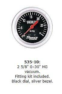 """SPECO 2 5//8/"""" PERFORMANCE VACUUM GAUGE P//N 535-10"""