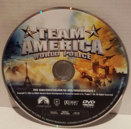 1 of 1 - Team America - World Police (DVD, 2005) Disc Only