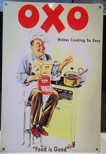 """COLLECTABLE 12/""""X 8/"""" METAL SIGN gravy kitchen,cafe OXO- MAKES COOKING SO EASY"""