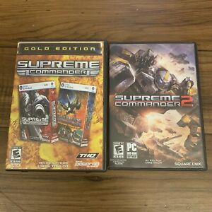 Supreme-Commander-2-amp-Gold-Edition-Lot-Of-3-Total-Games-PC-DVD-With-Manuals