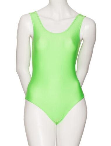 Ladies Dance Ballet Sleeveless Shiny Lycra Leotard All Colours /& Sizes KDC026