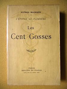 ALFRED MACHARD L'ÉPOPÉE AU FAUBOURG LES CENTS GOSSES MERCURE DE FRANCE 1912 - France - Reliure: Couverture souple Date de publication: 1912 - France