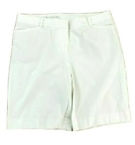 Talbots-Womens-Size-16-Bermuda-Shorts-White-Stretch-Perfect-Short-XLarge-XL