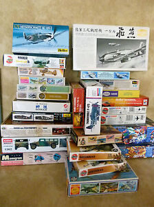 Multi-annonce-divers-model-kits-airfix-REVELL-PM-avions-vehicules-HELLER