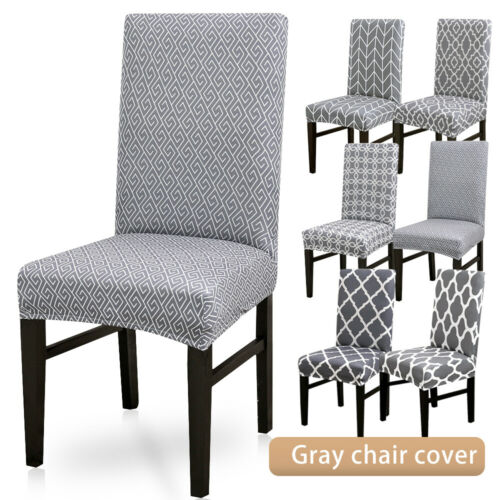 Elastic 4//6 Dining Chair Covers Seat Slipcovers Kitchen Chair Protective Covers