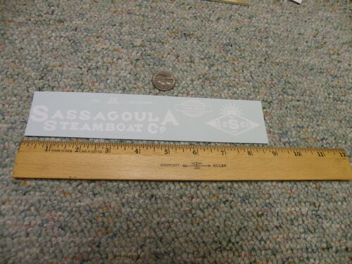 Herald King decals Large Scale O G S Gauge Sassagoula Steamboat Co   white  P13