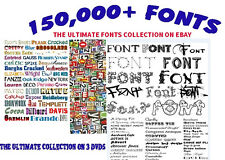 150,000 FONTS COLLECTION SOFTWARE * FONTS LIBRARY * PC FONTS* FREE SHIPPING