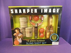 Outdoor Sling Shot Game Set 10 pcs Party Fun, Sharper Image NIB