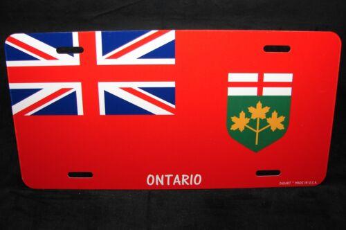 ONTARIO FLAG CAR LICENSE PLATE  PLAQUE DE LICENCE DU DRAPEAU DE L/'ONTARIO