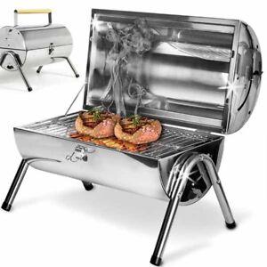 Barbecue-Da-Tavolo-Con-Griglia-In-Acciaio-Inox-Grill-Carbonella-Giardino-Pic-Nic