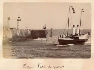 DIEPPE-c-1890-Entree-du-Port-Vapeur-Normandie-APA-9