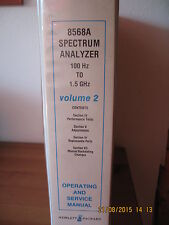 HP 8568A Spectrum Analyzer Operating and Service Manual Volume 2