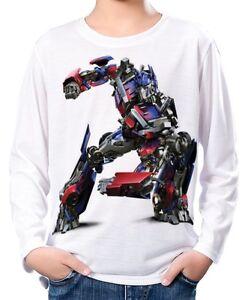 Junge Original Kauf neueste Kollektion Details zu Transformers Optimus Prime Kinder Jungen Langarm T-Shirt wc2  ael30050