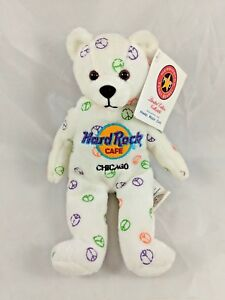 Hard-Rock-Cafe-Bear-Plush-Peace-Chicago-8-034-Herrington-Teddy-Bears-Stuffed-Animal