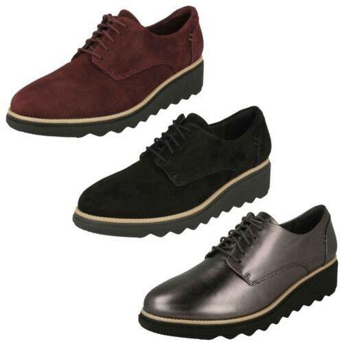 Mujer Clarks Zapatos Elegantes con Cordones Noel - Sharon Noel Cordones 485e30