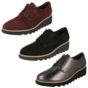 Clarks Elegantes Zapatos Detalles De Sharon Noel Con Cordones Mujer c4LqRj3A5