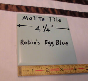 "Glossy Ceramic Tiles *Blue* 4-1//4/""  From the 1990/'s  Made U.S.A 5 pcs /""NOS/"""