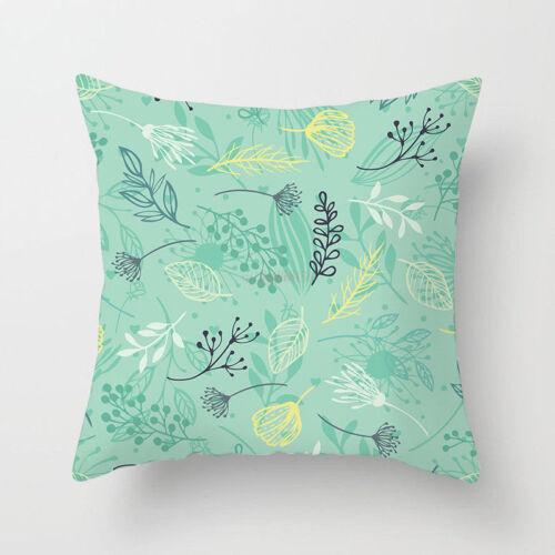 Tropical Cushion Cover Pillow Case Cover Square Waist Cushion Cover Home Decor B