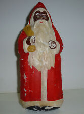 alter Weihnachtsmann, Karton, handbemalt, Muster-Schokoladenweihnachtsmann?