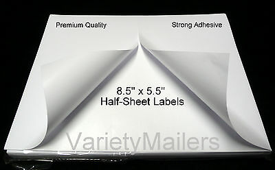 200 Half Sheet Self Adhesive Internet Shipping Labels for  PayPal 8.5 x 5.5