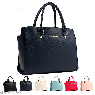 NEW Women Fashion Shoulder Tote Satchel Cross Body Messenger Faux Leather Bag