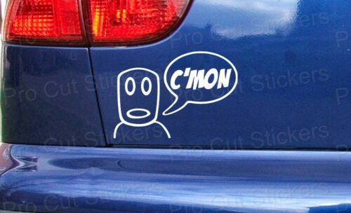 Large Sizes Vauxhall Corsa ref:4 CMON C/'MON Gang Car Stickers Decals Small