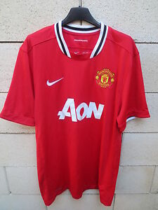 Maillot-MANCHESTER-UNITED-2012-NIKE-shirt-Red-Devils-jersey-football-AON-XL