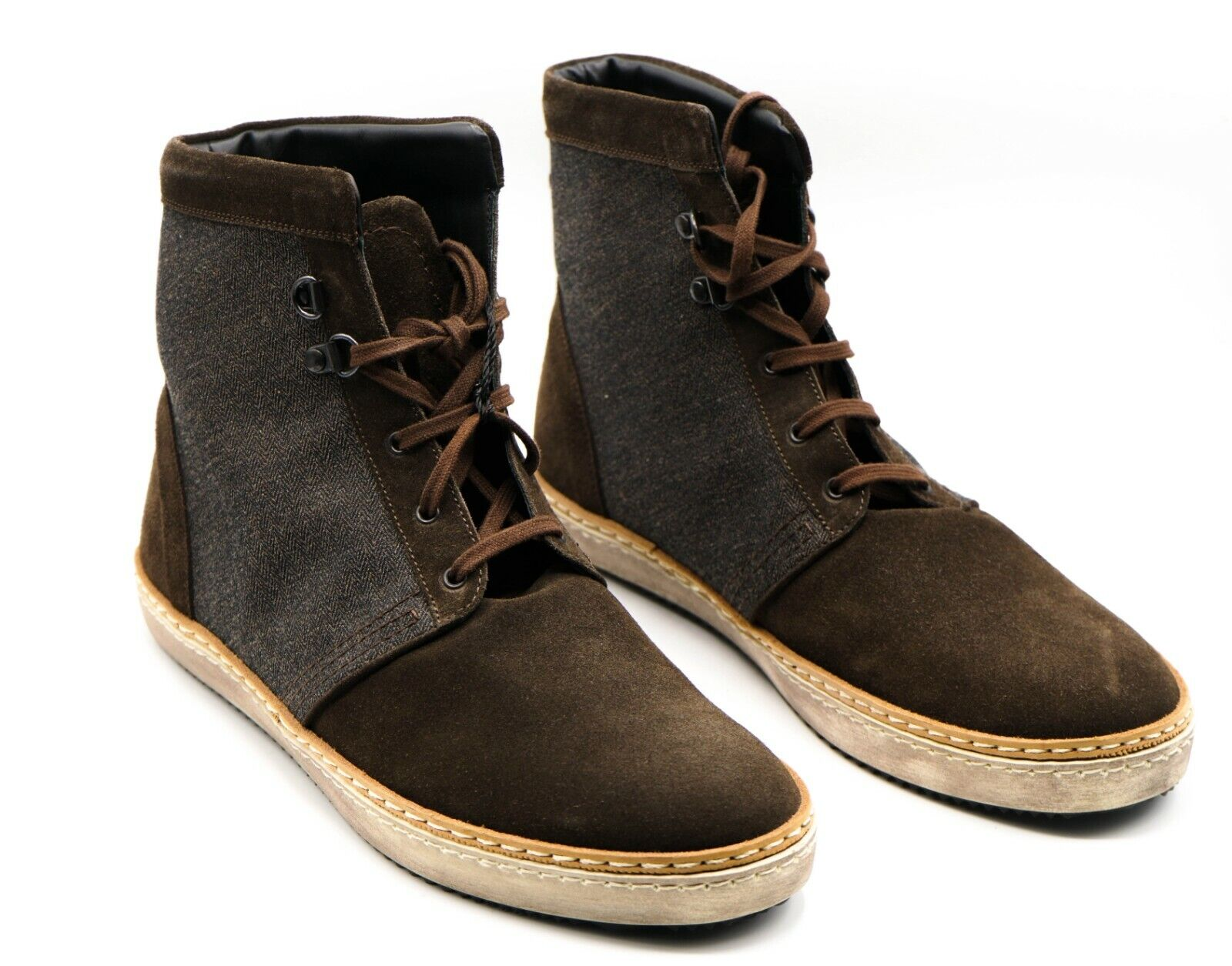 NEW KITON Napoli Boots Dress Leather Shoes Size Eu 42.5 Uk 8.5 Us 9.5 (KIS34)