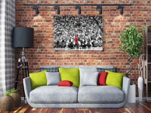 Michael Jordan Last Shot 1998  Painting Canvas Print Art Home Decor Wall