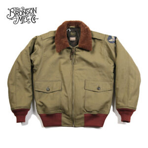 Bronson-USAAF-B-10-Flight-Jacket-1943-Model-Men-039-s-Intermediate-Flying-Coat-B10
