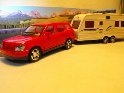 TOY CAR AND CARAVAN DIECAST CAR AND CARAVAN SET CAR AND TOURING CARAVAN GIFT